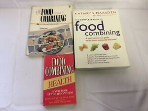 x3 Books Food Combining - For Health - Cookbook - Complete Book Easy To Use