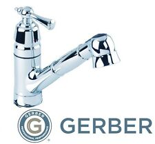 Gerber 40 480 Brianne Single Handle Pull Out Kitchen Faucet, Polished  Chrome **