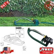 3400 sq ft Sturdy Oscillating Lawn Sprinkler Spray Watering Action Garden Yard