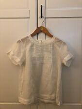 Lee Mathews Sheer Linen Blouse, Size 1
