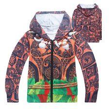 Tipo Vaiana Felpa Autunno Primavera Similar Moana Maui Hooded Jacket HOMAU01
