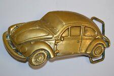 Vintage 1978 Volkswagen BEETLE Shaped VW Car Solid Brass MINTY Belt Buckle BUG