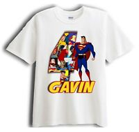 Superman Personalized - Birthday T-Shirt Party Favor