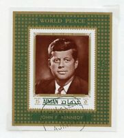 AJMAN  JOHN F KENNEDY MEMORIAL   STAMPS (USED & MINT NH)  & S/S  USED