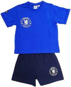 Kids Chelsea Boys Shorts Pyjamas Official Football Short Pyjama PJ Set CFC