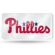 Philadelphia Phillies Silver Laser Cut License Plate [NEW] Car Truck Tag Auto