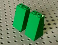 Lego 2x brique brick slope pente inclinée 2x2x3 3684 green//vert//grüne