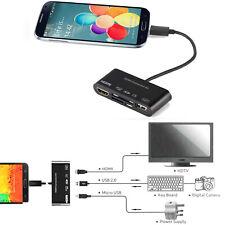 HUB a HDMI Adaptador Micro USB OTG SD TF Lector Tarjetas Escritor Para Samsung