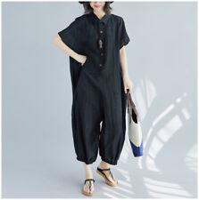 Women Oversized Casual Overalls Pants Linen Jumpsuit Playsuit Loose Baggy Romper