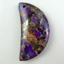 BA5900 53x32x14mm Beautiful purple Rock Crystal carved goldfish Pendant bead