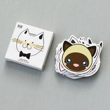 45x DIY Cartoon Cat Head Design Art Sticker Cute Paper Stickers Diary Decor New