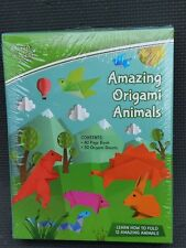 New Amazing Origami Animals kit w Book & Paper 12 Projects Crafts Birds Dinosaur