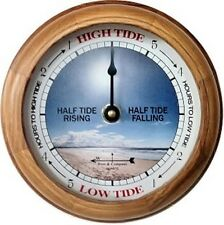 "6"" OAK BEACH TIDE CLOCK BY WEST & CO."