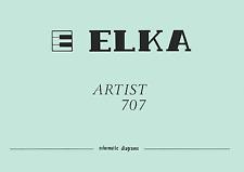 ELKA Artist 707 Schematic Diagram Schaltplan Schematique Service Manual Repair