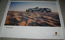 2003 Factory Porsche Poster 911 Turbo Cabriolet Silver 2 Dr Convertible NICE!!