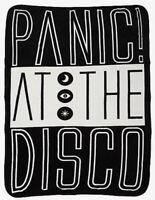 "Panic At The Disco Block Logo Soft Super Plush Throw 48""x60"" Blanket"