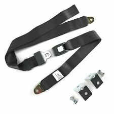 2pt Charcoal Standard Buckle Lap Seatbelt with Mounting Hardware harness rat