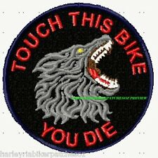 TOUCH THIS BIKE - PET BIKER PATCH