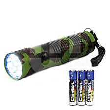 LED Foco Linterna Eléctrica 12 LEDS Camuflaje Lámpara Luz
