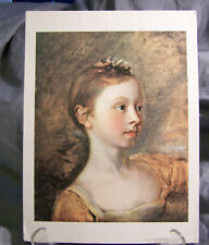 "LITHOGRAPH PRINT OF THE PAINTER'S DAUGHTER MARY~THOMAS GAINSBOROUGH~8""x10 3/4""VG"