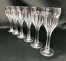 Crystal Glass Set of 6 Liqueur Vodka Glasses 2 oz Czech Bohemia Crystal glass