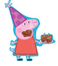 NEW! Peppa Pig Birthday Party Jumbo Supershape Mylar Foil Balloon