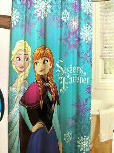 "NEW Disney Frozen Shower Curtain 72"" x 72"" Purple, US Free Shipping, US Seller."