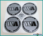 4x Silicone Sticker ∅= 60mm for Hub Caps Emblems Sticker with Silver NEW