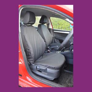 Skoda Octavia 2013+ Tailored Waterproof Front Pair Black Car Seat Covers
