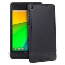 2013 Google Nexus 7 II 2nd Gen -Premium Soft Matte Back Case Cover Films - Black