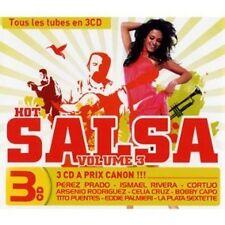 1085 // COFFRET 3 CD 45 TITRES HOT SALSA VOLUME 3 BLISTER UN PEU ABIME