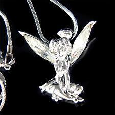 w Swarovski Kristall Tinkerbell Fee Engel Charme Anhänger Kette Halskette Neu