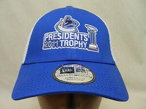 VANCOUVER CANUCKS - NHL - PRESIDENT'S 2011 TROPHY - S/M SIZE FLEX BALL CAP HAT!