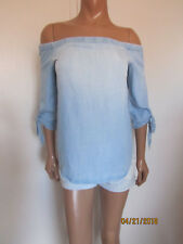 Cloth & Stone by Bella Dahl Tie Sleeve Off Shoulder Top Size XS ~NWOT~
