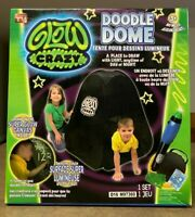 NEW Glow Crazy Doodle Dome Childrens Play Popup Tent w/ Glow In The Dark Wand