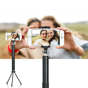 Leather Selfie Stick with Tripod, LED Ring Light and Bluetooth Remote Shutter