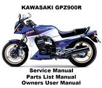 GPZ900R NINJA Owners Workshop Service Repair Parts Manual PDF on CD-R GPZ 900 ZX