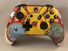 Xbox One S Pokemon Pikachu Wireless BL Controller, Yellow LED Rapid fire Modded