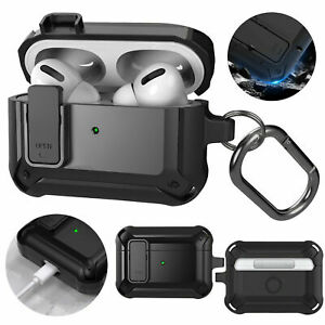For Apple AirPods Pro 2019 Case Cover TPU Slim Pouch With Carabiner Shockproof