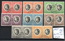South-West Africa (6302) 1937 King George V1 Coronation set used pairs Sg97-104