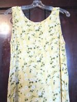 County Seat Women's Size 3/4 Sleeveless Full Length Yellow Floral Dress