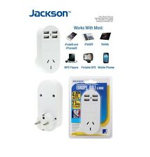 Europe Bali Outbound Travel Adaptor w 4 Fast USB Outlets International Adapter