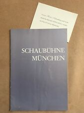 """Program booklet """"The Smile of Gioconda"""" Theatre Munich 1966"""