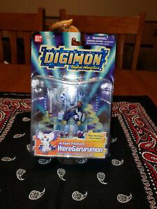"MIB Digimon Season 3 WereGarurumon 2.5"" Action Feature Bandai Figure Mint in Box"