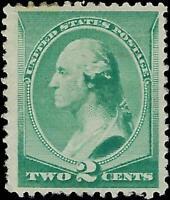 VEGAS - 1887 USA Sc# 213 2c Washington - Mint, Re-Gum - Centering! - EF28