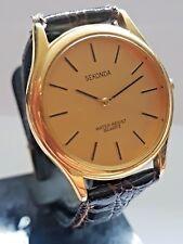 Vintage Sekonda Gold Plated Gents  Oversized Quartz Wrist Watch