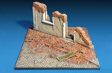 WWII diorama calle en ruinas 1/35 street ruins facade edificio casa en ruins