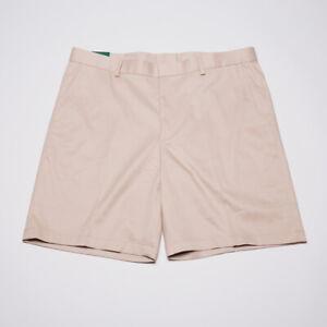 Bobby Jones Size 38 Men Beige Khaki Flat Front Golf Shorts with 9 Inch Inseam