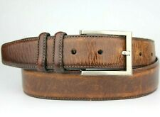 Jos. A. Bank Brown Leather Belt Vintage Retro Size 40""