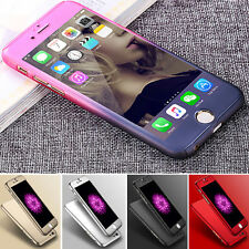 Hybrid 360° Hard Ultra thin Case+Tempered Glass Cover For Apple iPhone 5 6 Plus